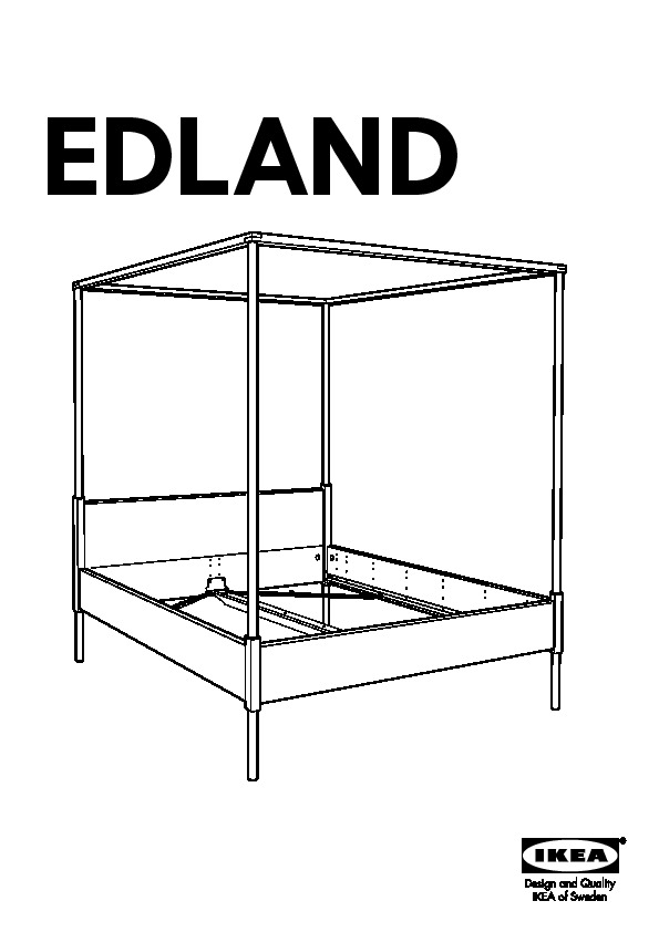 edland structure lit baldaquin blanc ikea france ikeapedia. Black Bedroom Furniture Sets. Home Design Ideas