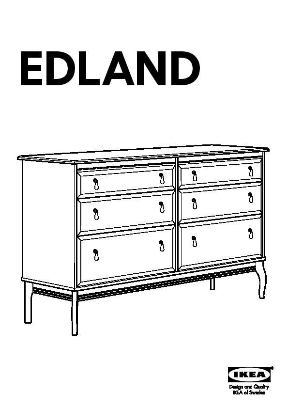 edland commode 6 tiroirs gris ikea france ikeapedia. Black Bedroom Furniture Sets. Home Design Ideas