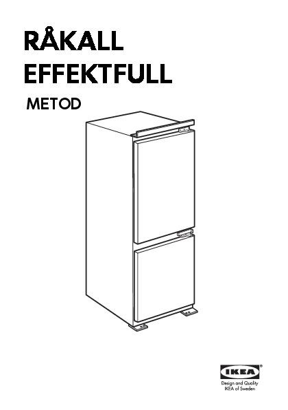 effektfull integrated fridge freezer a white ikea united. Black Bedroom Furniture Sets. Home Design Ideas