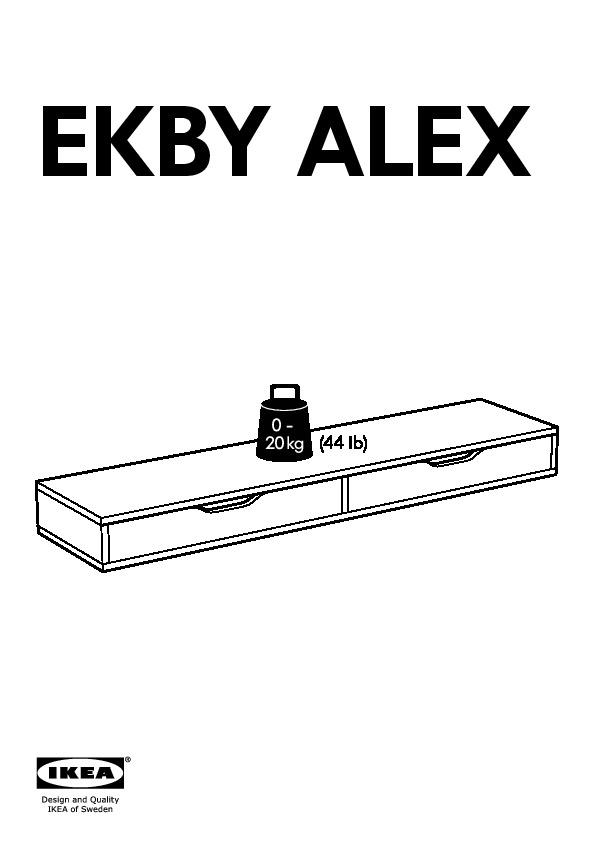 Ekby alex ekby valter ripiano con cassetto bianco for Mensola con cassetti ikea