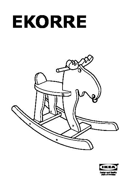 Ikea Alce A Dondolo.Ekorre Alce A Dondolo Rosso Legno Dell Albero Della Gomma Ikeapedia