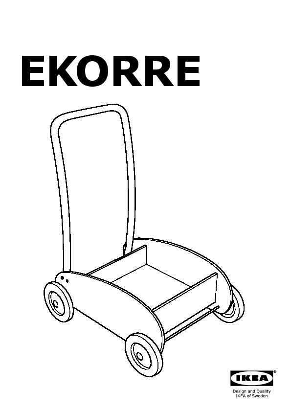 Ekorre chariot de marche bleu clair bouleau ikea france ikeapedia - Chariot de marche ikea ...