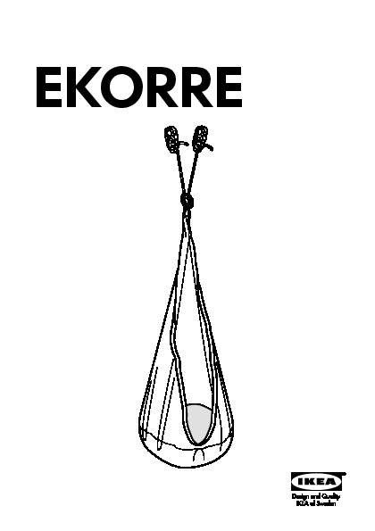 Ekorre Hanging Seat With Air Element Silver Color Ikea United