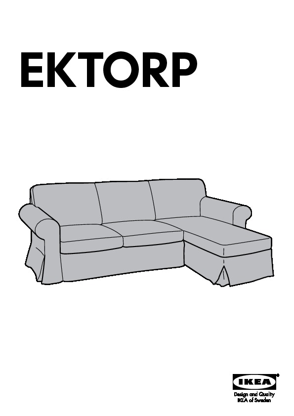 Ektorp Cover For Loveseat With Chaise Nordvalla Red Ikea Canada English Ikeapedia
