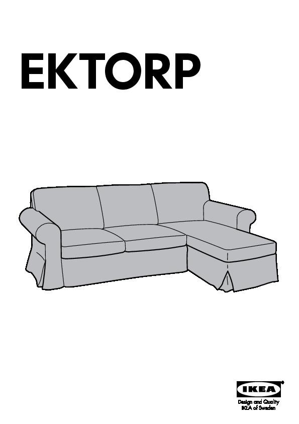 Ektorp divano a 2 posti e chaise longue lofallet beige - Fodera divano ektorp ...