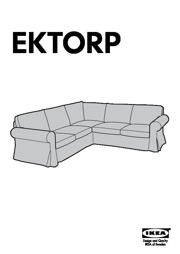 Ektorp Canapé D Angle 2 2 Places Lofallet Beige Ikea France