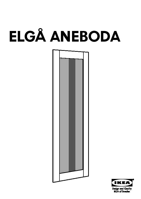 elg aneboda porte coulissante transparent blanc ikea france ikeapedia. Black Bedroom Furniture Sets. Home Design Ideas
