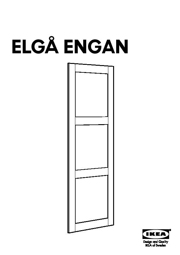 Elg 197 Wardrobe With 2 Sliding Doors Gray Engan Fenstad
