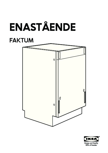 enast ende lave vaisselle int g int rieur haut acier inoxydable ikea france ikeapedia. Black Bedroom Furniture Sets. Home Design Ideas