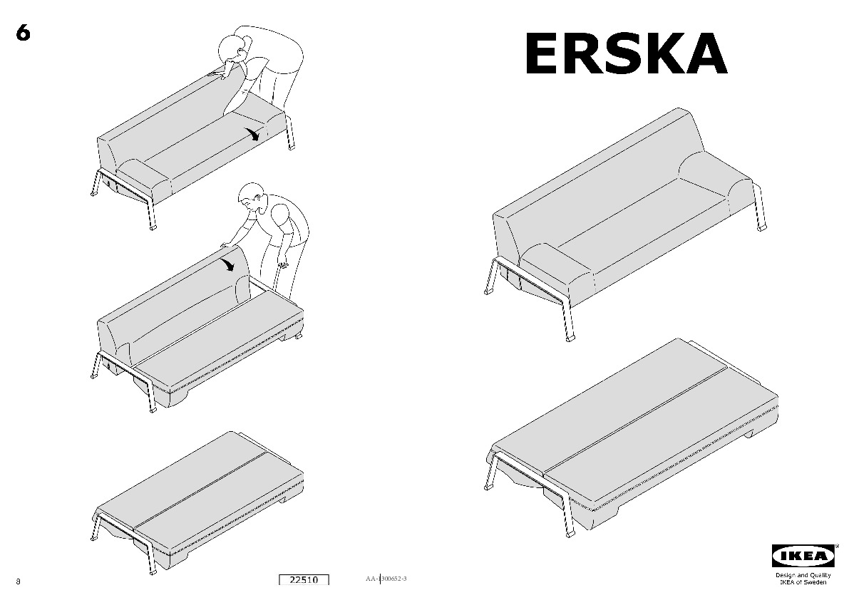 Erska Sofa Bed Skiftebo Dark Gray Ikea United States