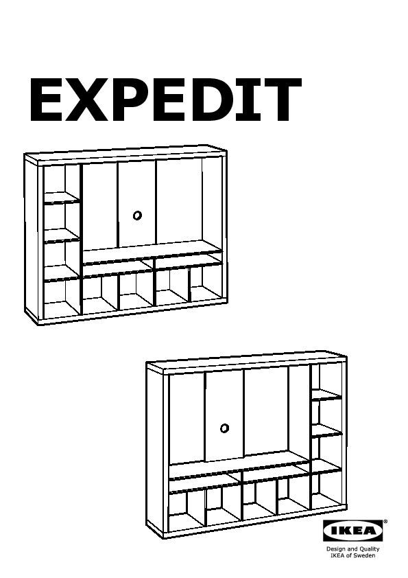 Expedit Tv Storage Unit Black Brown Ikea United States Ikeapedia