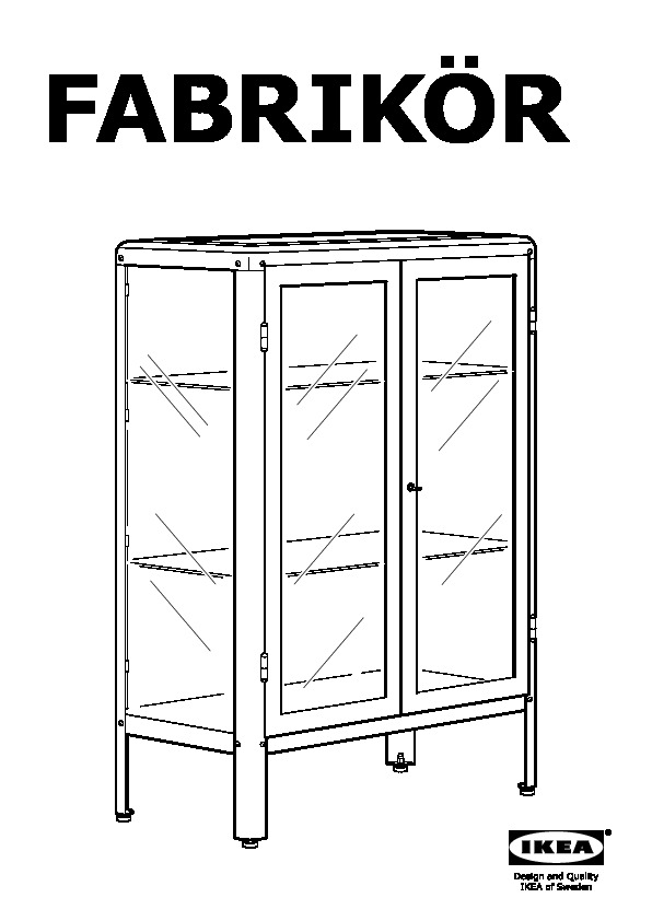 FabrikÖr Glass Door Cabinet