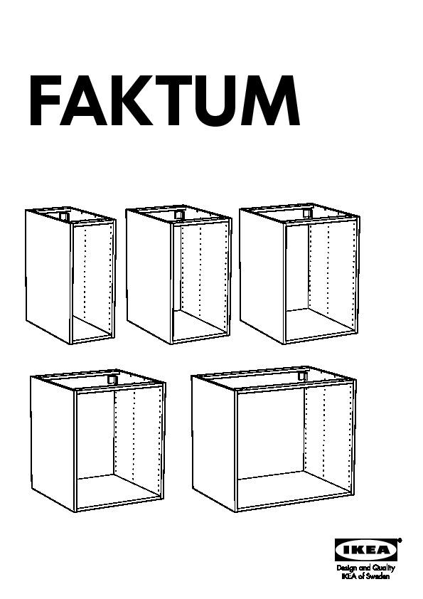 FAKTUM Structure élément Bas