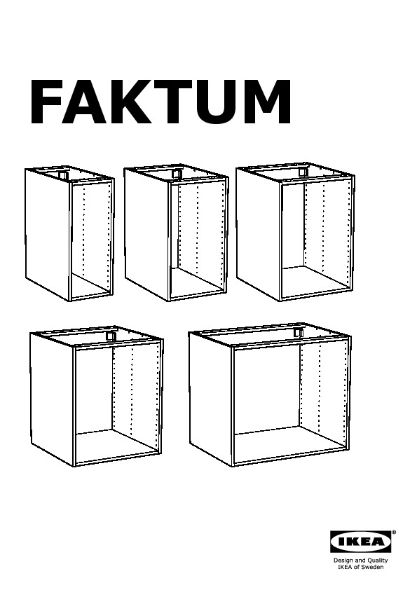 Faktum Ikea faktum base cabinet with pull out storage årsta white ikea united