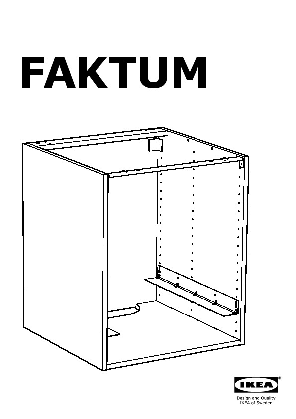 Faktum base cabinet for oven ramsj black brown ikea - Ikea cuisine faktum ...