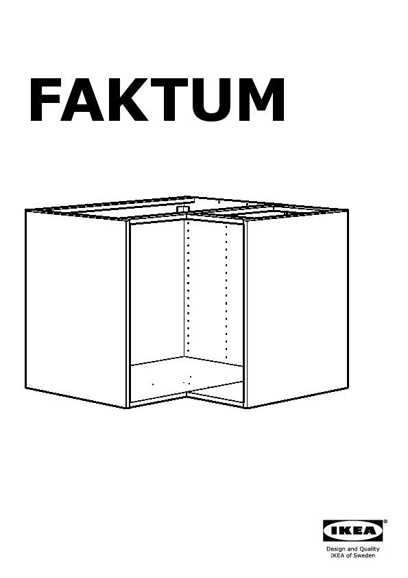 Faktum Corner Base Cabinet With Carousel Abstrakt White Ikea United