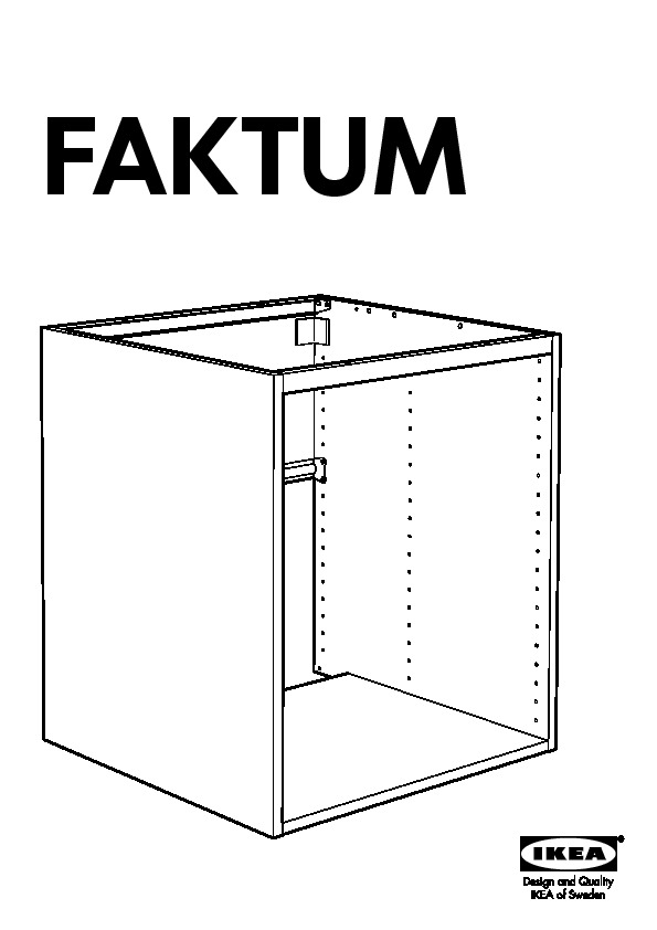 Ikea Ideas For Small Living Room ~ FAKTUM Élément bas évier tiroirs 1 pte Valla motif noyer
