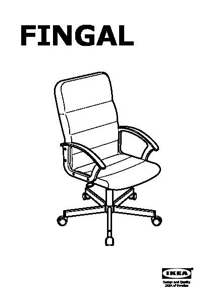 Chaise de bureau ikea fingal - Ikea chaise bureau enfant ...