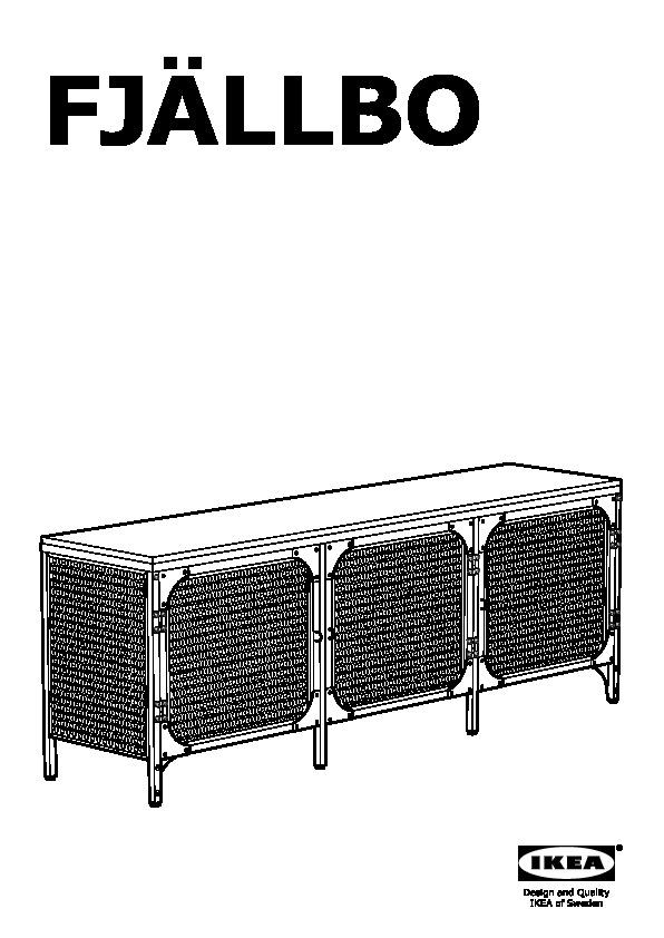 Fjällbo Banc Tv Noir Ikea France Ikeapedia
