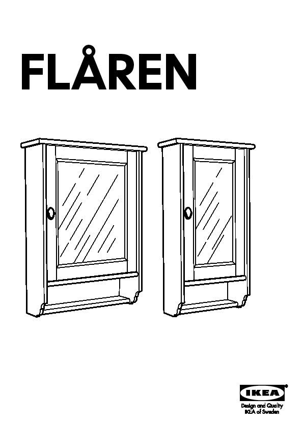 FLåREN Meuble avec miroir blanc (IKEA France) IKEAPEDIA