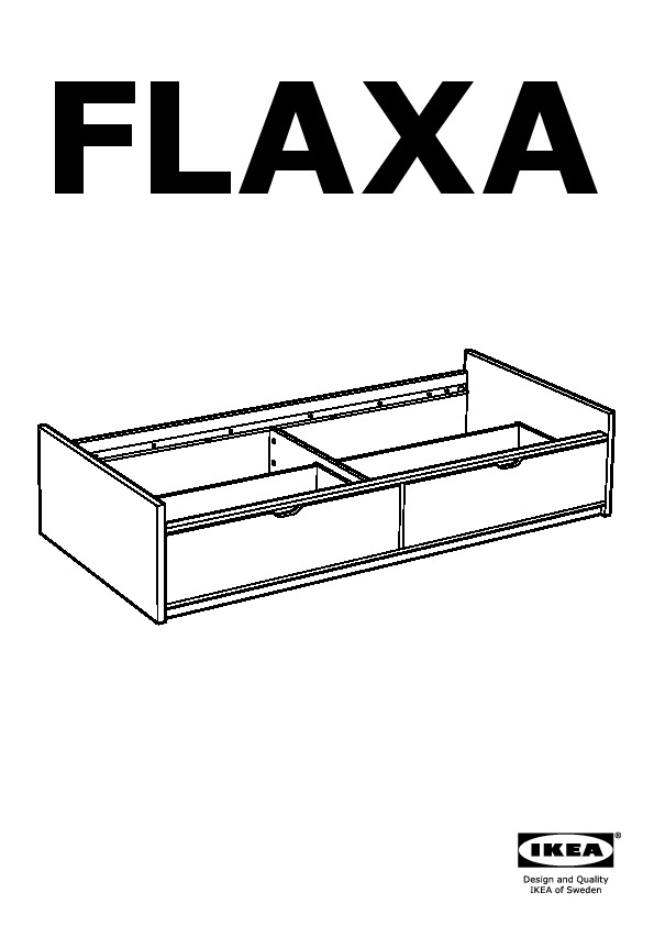 flaxa cadre lit avec rangement blanc ikea france ikeapedia. Black Bedroom Furniture Sets. Home Design Ideas