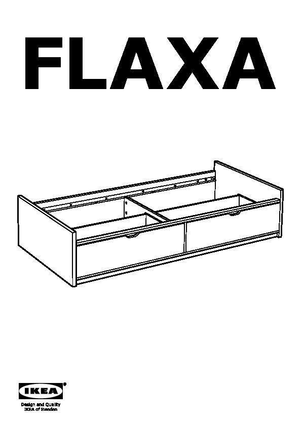 flaxa cadre lit avec rangement blanc ikea france ikeapedia. Black Bedroom Furniture Sets. Home Design Ideas