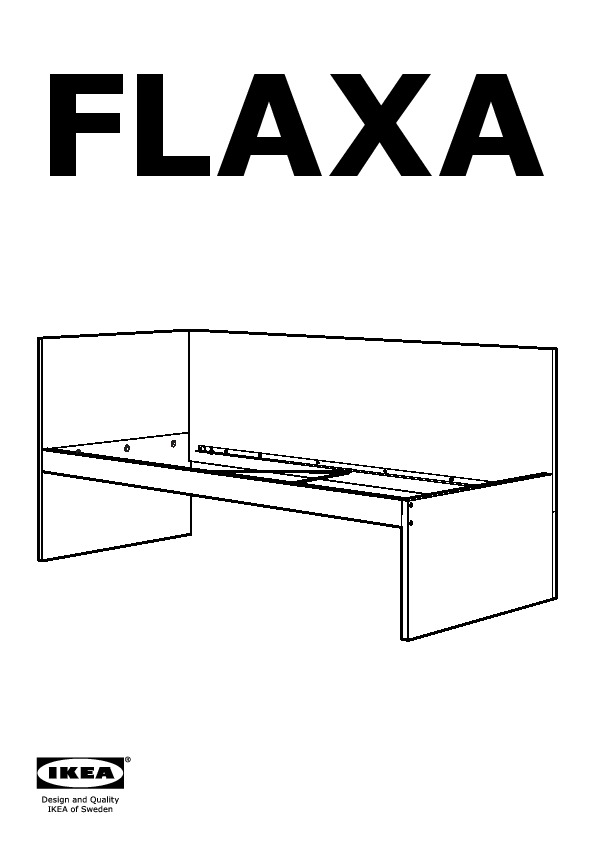 flaxa structure lit avec t te de lit blanc ikea france ikeapedia. Black Bedroom Furniture Sets. Home Design Ideas