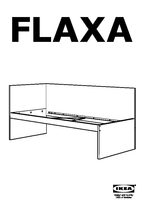 Flaxa struttura letto testiera base doghe bianco ikea for Ikea letto flaxa