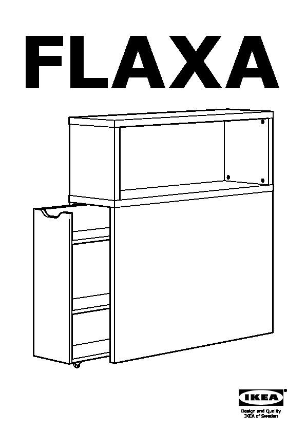 FLAXA Testiera con vano contenitore bianco (IKEA Italy) - IKEAPEDIA