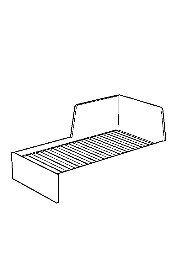 Flekke daybed frame with 2 drawers black brown ikea for Manuel ikea daybed