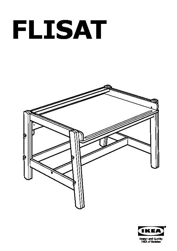 flisat bureau pour enfant r glable ikea france ikeapedia. Black Bedroom Furniture Sets. Home Design Ideas