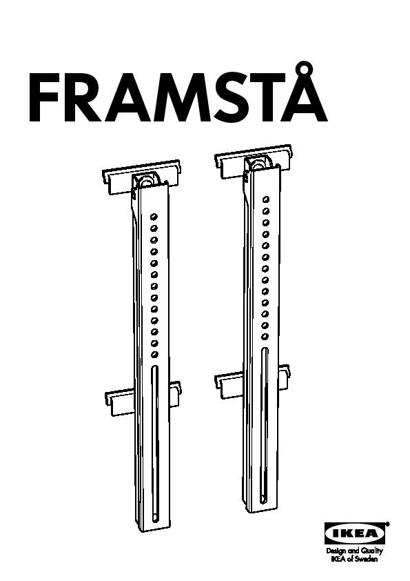 Ikea Framsta framstå wall bracket for flat tv galvanised ikea united kingdom