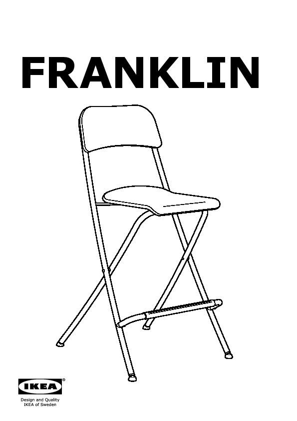 Franklin tabouret bar pliant dossier brun noir gris argent ikea canada french ikeapedia - Tabouret de bar pliant but ...