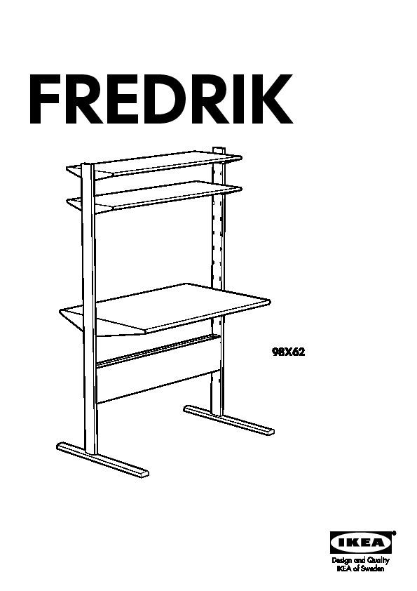 Fredrik Computer Work Station Black Brown Ikea United States