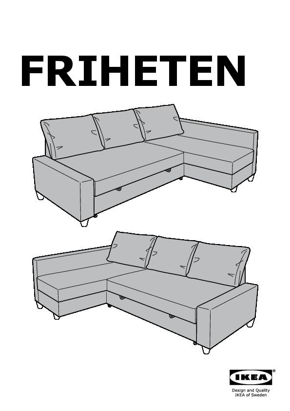Friheten Canape Lit D Angle Ikea Canada French Ikeapedia