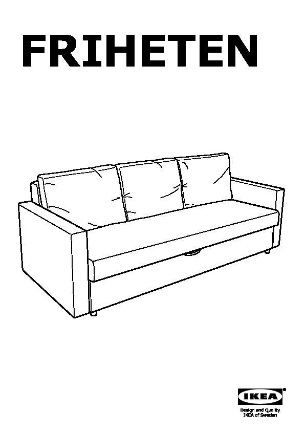 meilleur service 9beb9 b95f0 FRIHETEN Convertible 3 places Skiftebo gris foncé (IKEA ...