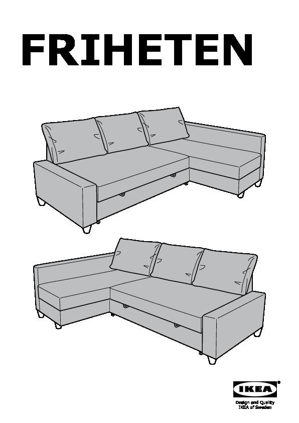 Ikea Friheten friheten sofa bed with chaise skiftebo brown ikea canada