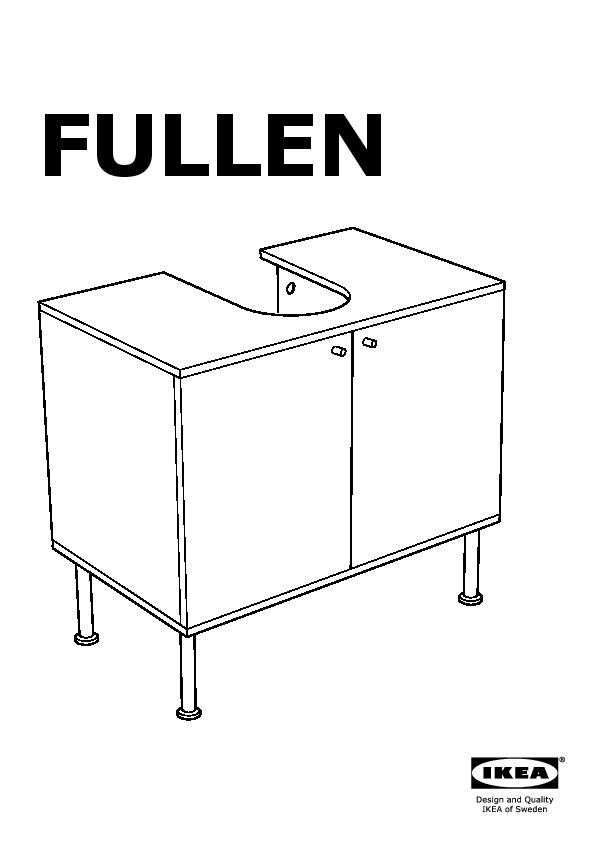 Fullen élément Bas Lavabo 2 Portes Blanc Ikea France Ikeapedia