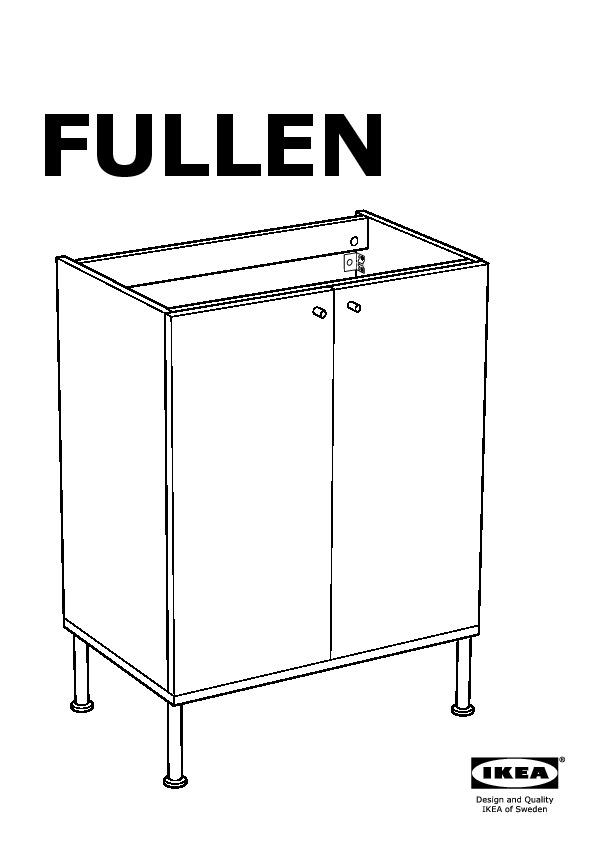 FULLEN/TÄLLEVIKEN Sink cabinet white (IKEA United States) - IKEAPEDIA