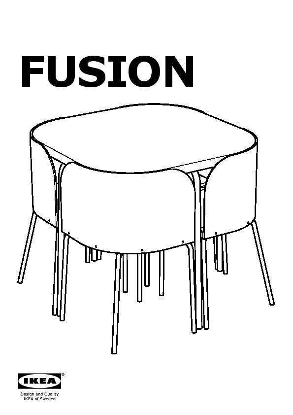 Fusion Table Et 4 Chaises Ikea France Ikeapedia