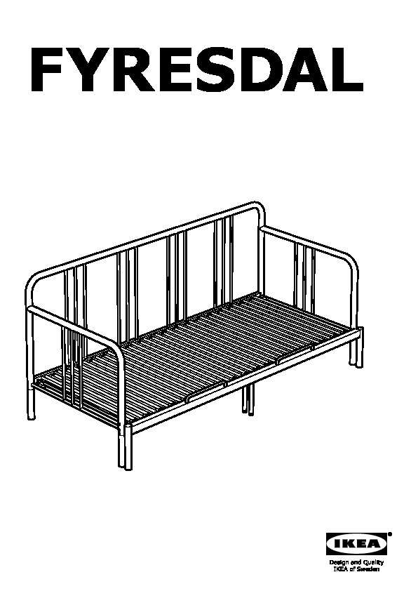 Fyresdal day bed with 2 mattresses black malfors medium firm ikea united kingdom ikeapedia - Montaggio divano ikea ...