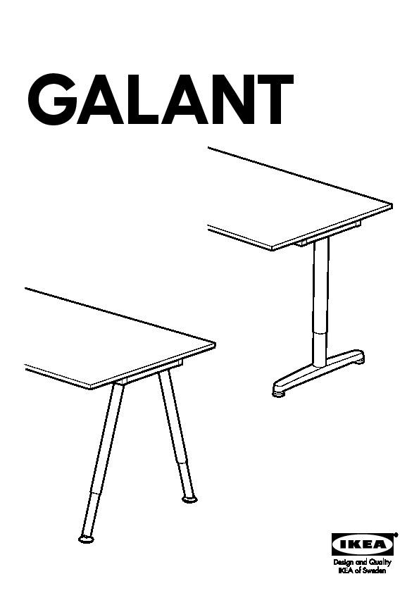 Galant Bureau D Angle Gch Bouleau Plaqué Gris Argent Ikea