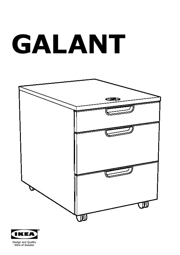 Ikea Cassettiera Con Rotelle.Galant Cassettiera Con Rotelle Bianco Ikea Italy Ikeapedia