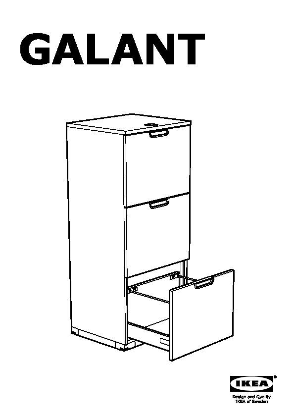 Galant File Cabinet White Ikea Canada