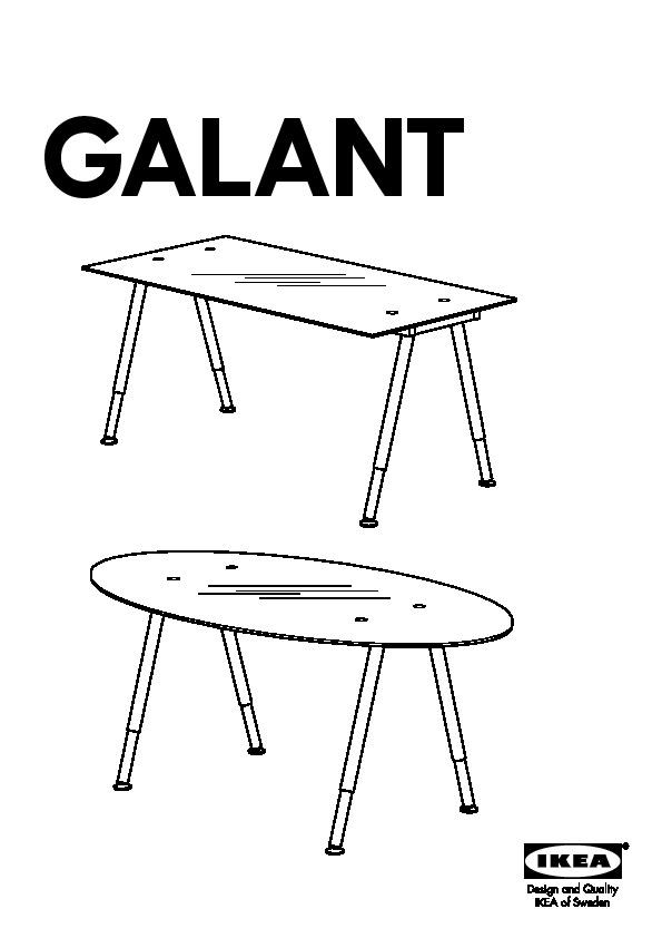 Galant Ikea galant desk glass black silver color ikea united states ikeapedia