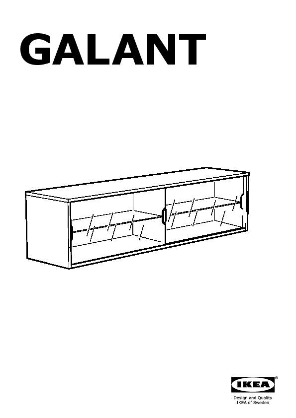 Galant Wall Cabinet With Sliding Doors Oak Veneer Ikea United