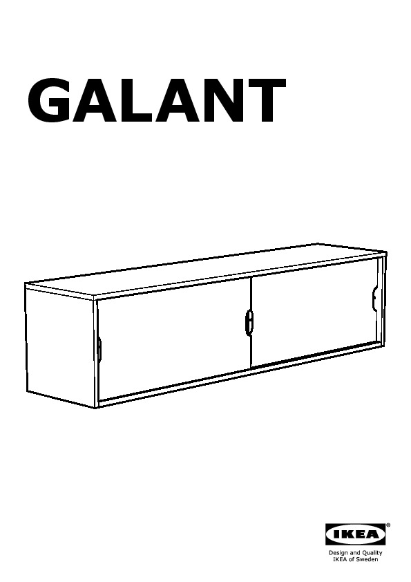 GALANT Wall cabinet with sliding doors