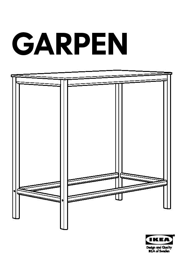 Garpen table de bar noir ikea france ikeapedia for Table de bar noir