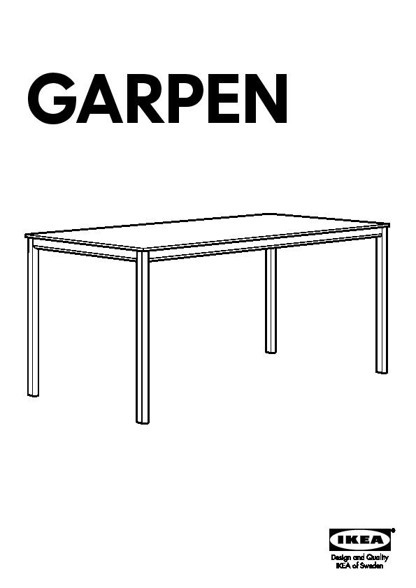 Garpen Table With Chaises Noires Ikea