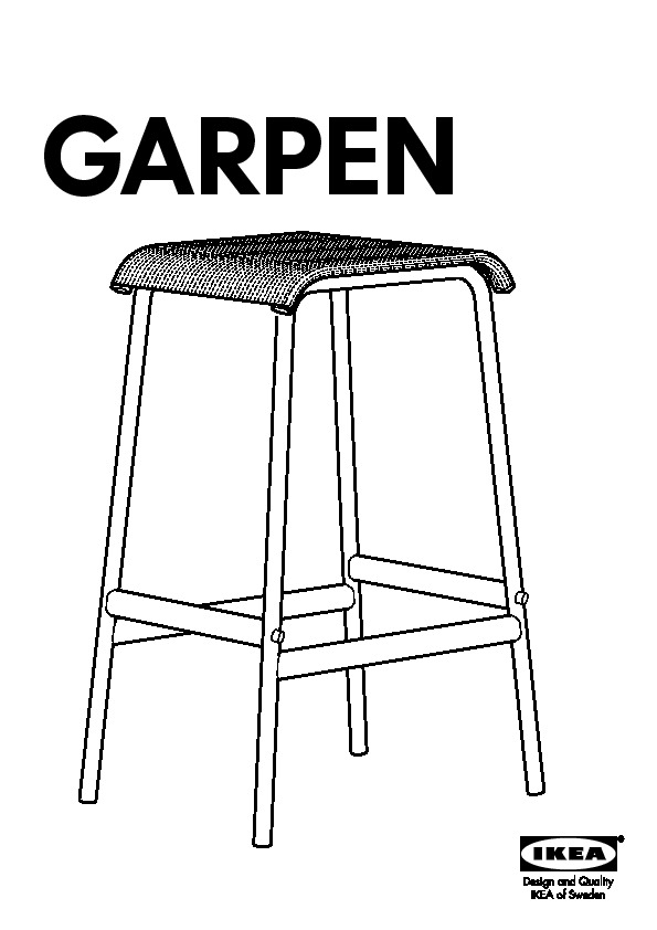 Garpen Tabouret De Bar Noir Ikea France Ikeapedia